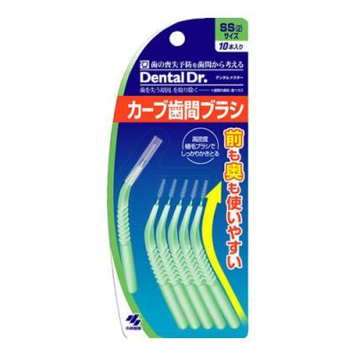 デンタルドクター カーブ歯間ブラシ 10本 (SS)