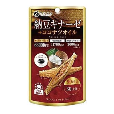 ファイン 納豆キナーゼ+ココナツオイル 90粒 (30日分)