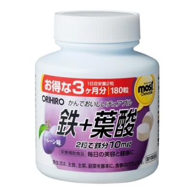 MOSTチュアブル 鉄+葉酸 180粒 (プルーン味)