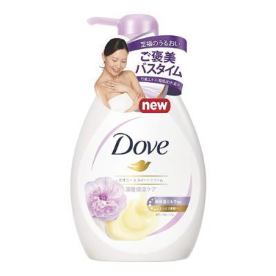 Dove(ダヴ)ボディウォッシュ リッチケア リッチケア ピオニー&スイートクリーム 480g (ポンプ式)