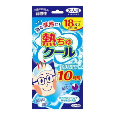 熱ちゅクール大人用 18枚 (3枚×6袋)