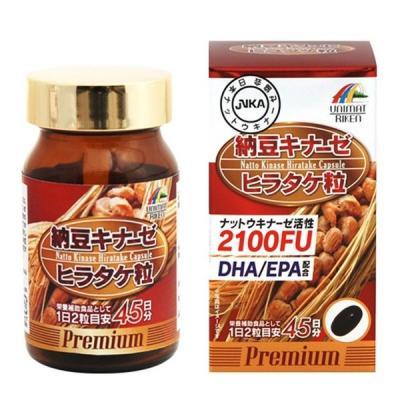 ユニマットリケン 納豆キナーゼヒラタケ粒プレミアム  90粒