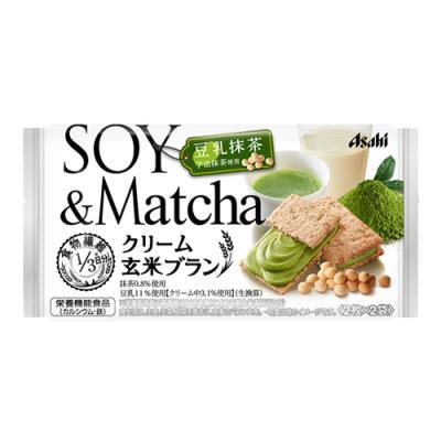 バランスアップ クリーム玄米ブラン 豆乳抹茶 72g ((2枚×2袋))