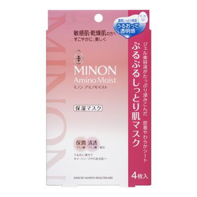 ミノン アミノモイスト ぷるぷるしっとり肌マスク 4枚 ((22mL×4))