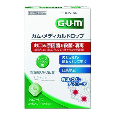 ガム・メディカルドロップ ハーブミント味 24粒 (ハーブミント味)
