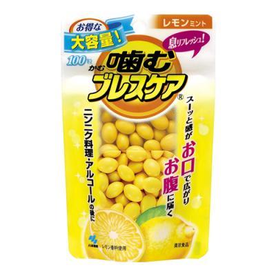 噛むブレスケア レモンミント 100粒 ( パウチ)